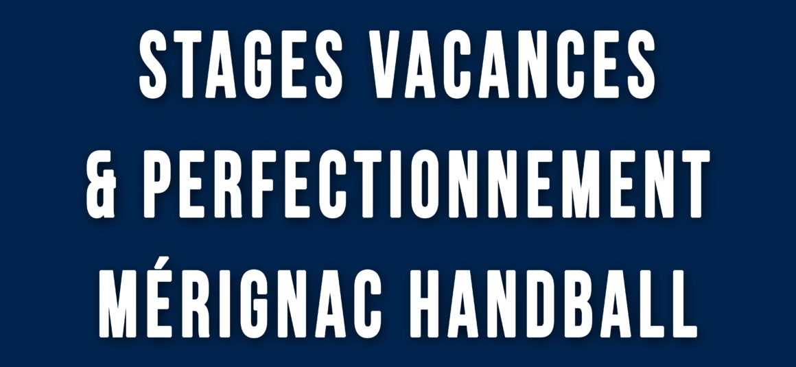 Stages Vacances et Perfectionnement – Toussaint 2017
