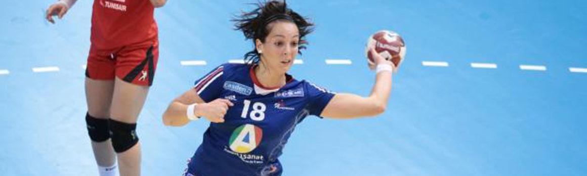 Audrey Deroin au Mérignac Handball