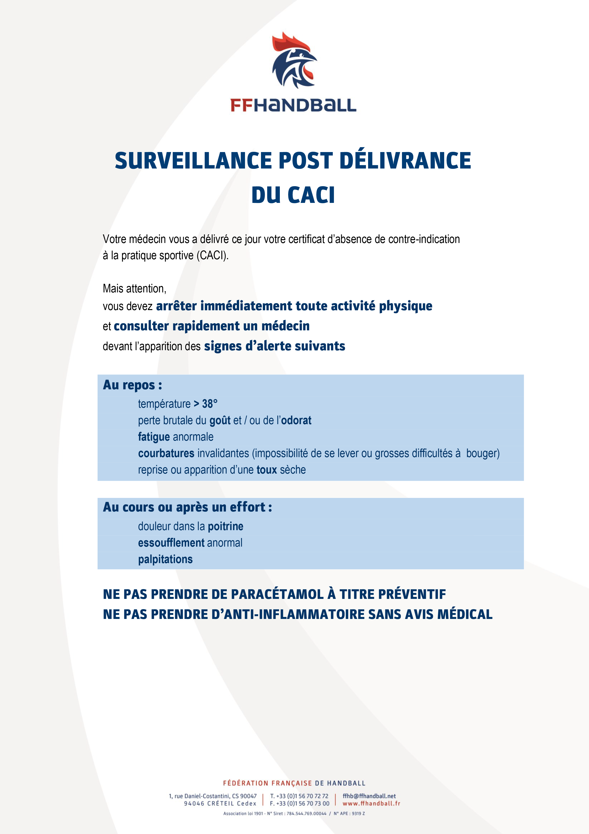 Surveillance Post CACI