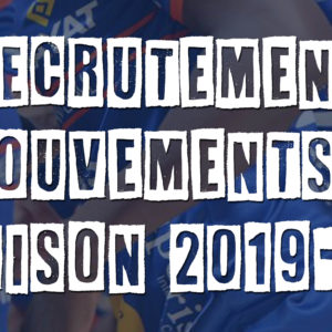 Point sur l'effectif Saison 2019/2020