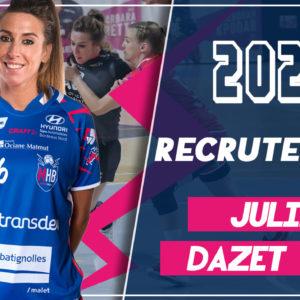 Julie Dazet signe 2 ans au Mérignac Handball