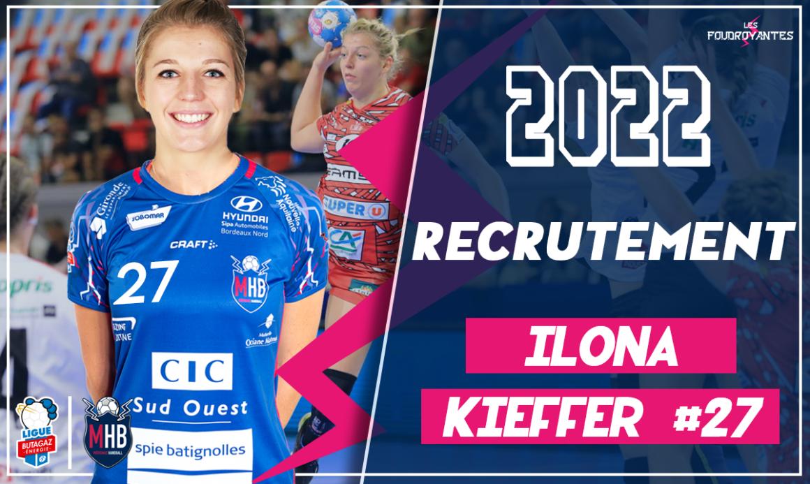 Ilona Kieffer signe au Mérignac Handball