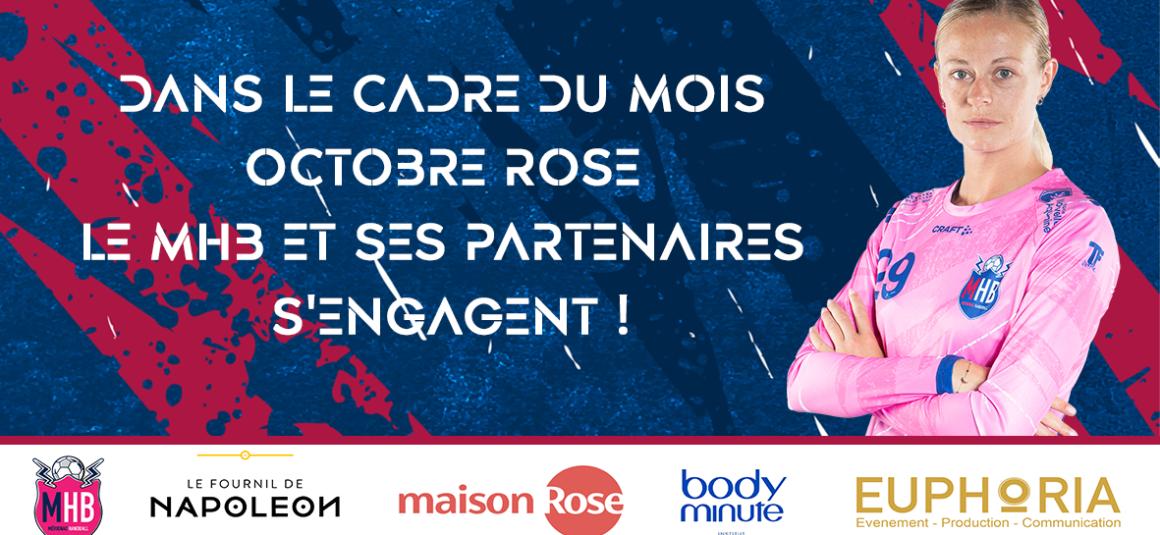 Le Mérignac Handball et ses partenaires s'engagent dans le cadre du mois Octobre Rose !
